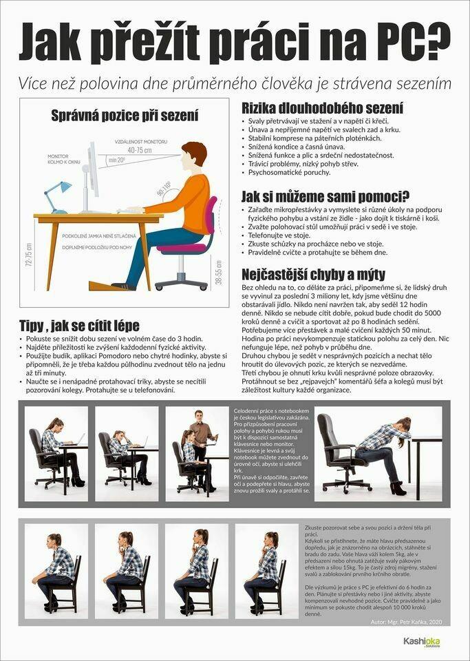 Dlouhé sezení u PC