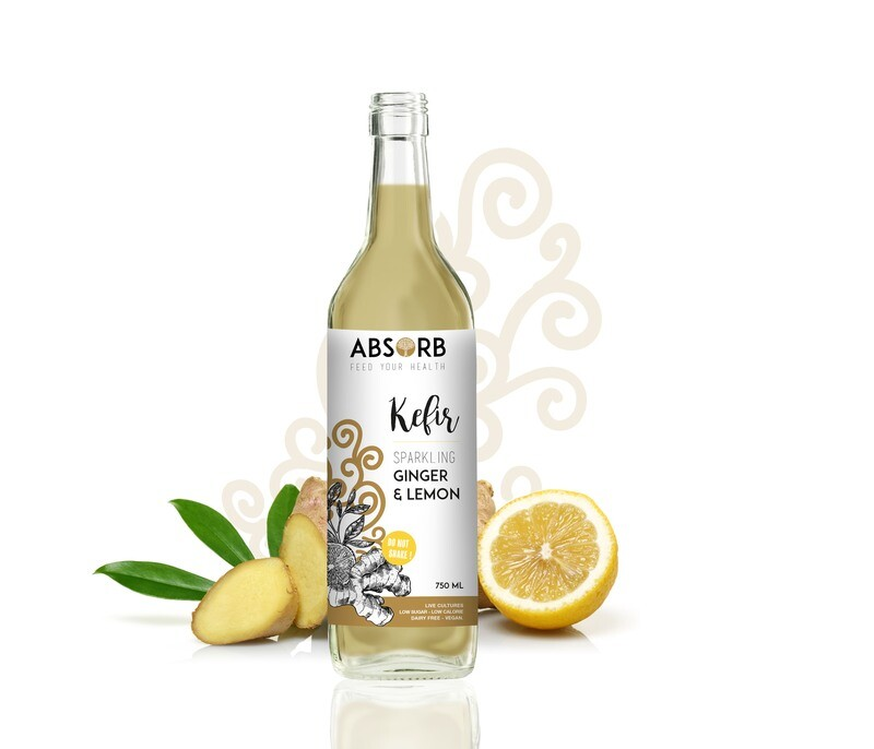 Absorb Kefir Ginger & Lemon 750ml x6