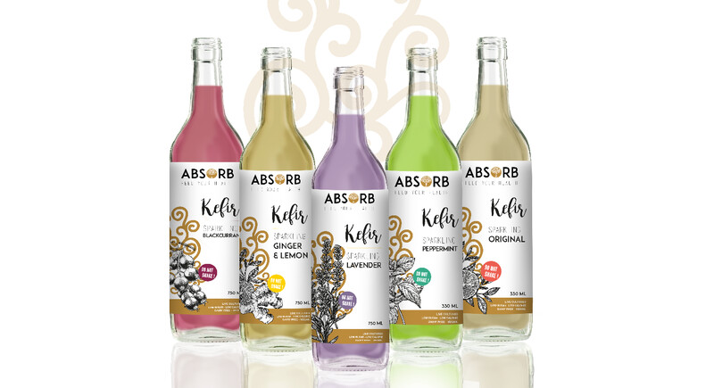 ABSORB WATER KEFIR MIXED FLAVOURS 750ml x6