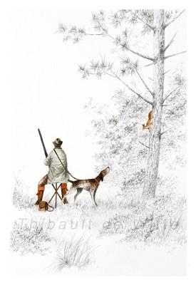 Chasseur et Ecureuil