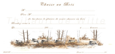 Invitations Chasse au Bois II