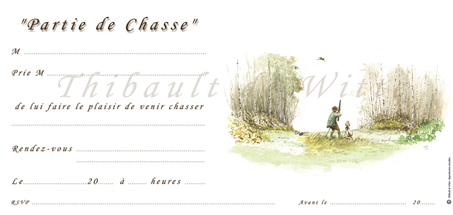 Invitations Chasse - Petits Gibiers