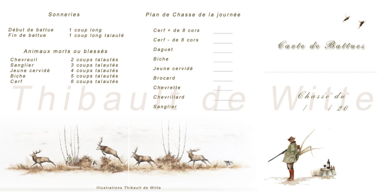 """Cartes de Battues """"Polonaise""""- Cerfs"""