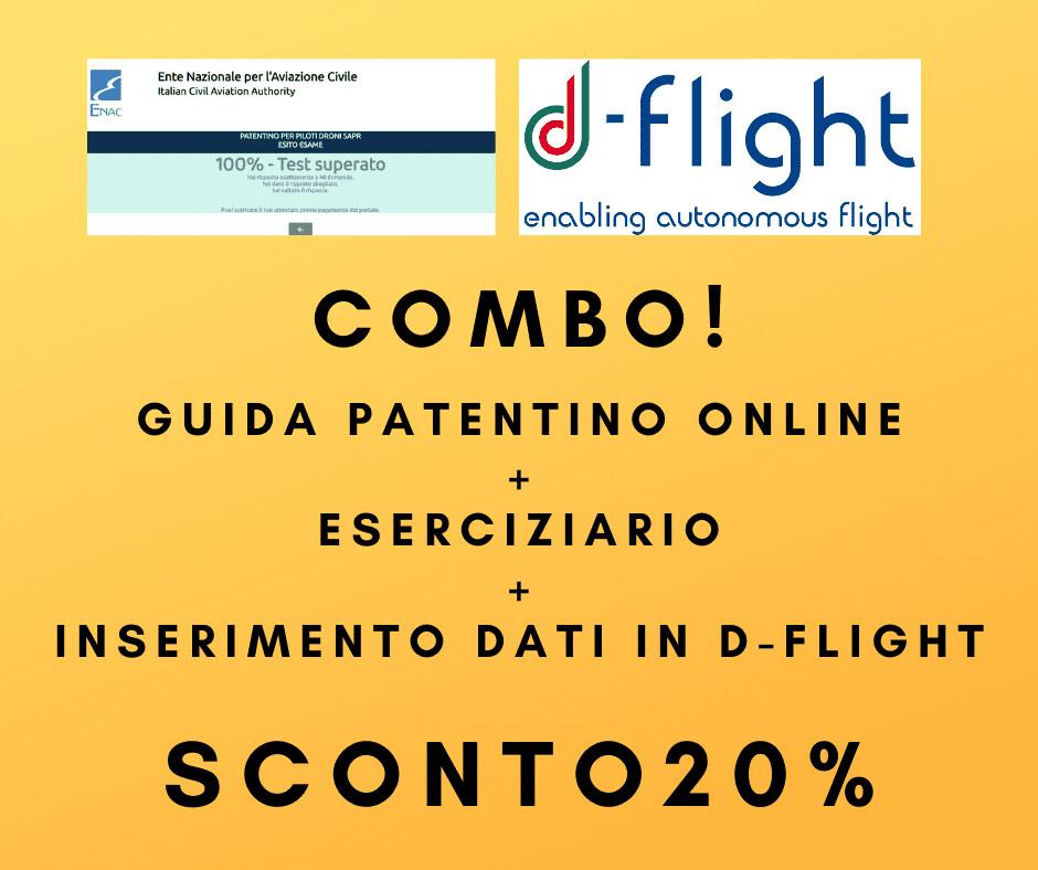 PATENTINO DRONI ONLINE COMBO GUIDA DOMANDE E RISPOSTE + D-FLIGHT
