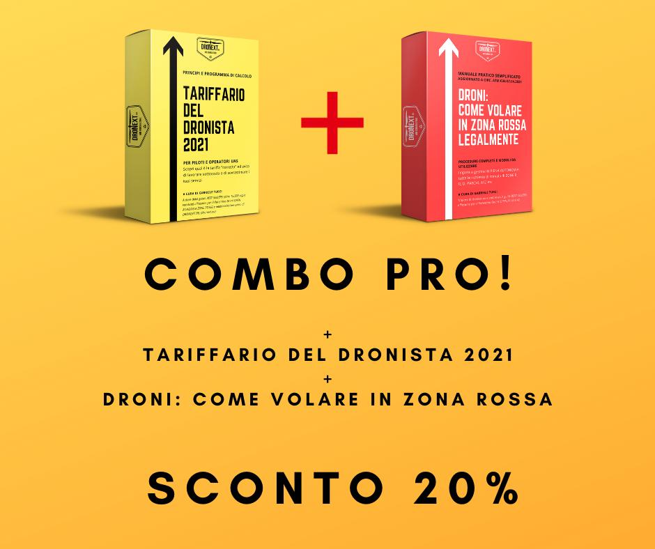 COMBO TARIFFARIO DEL DRONISTA 2021 + MANUALE PER VOLARE IN ZONA ROSSA
