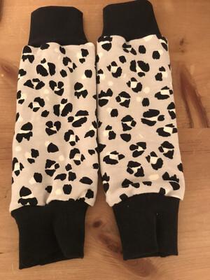Grey Lynx Print Baby Leg Warmers - alternative cuffs available
