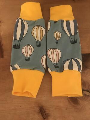 Blue hot air balloon Baby Leg Warmers - alternative cuffs available