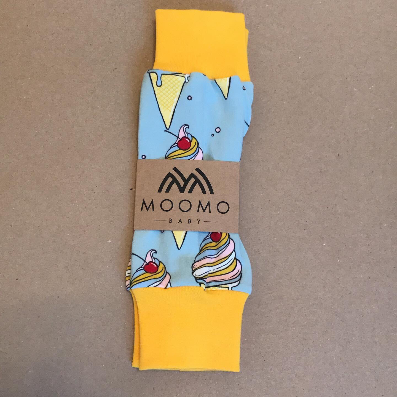 Light Blue Ice-Cream Baby Leg Warmers - alternative cuffs available