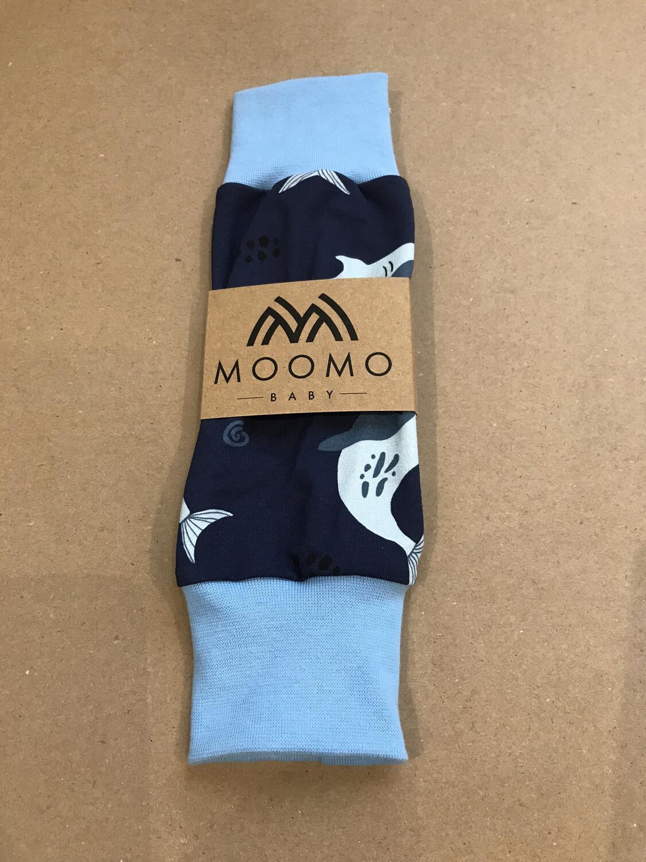 Blue Shark Baby Leg Warmers - Light Blue Cuffs
