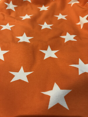 Orange Star Baby Leg Warmers- alternative Cuff available