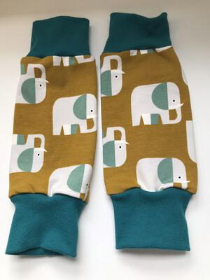 Mustard Elephant Baby Leg Warmer- alternative Cuff available