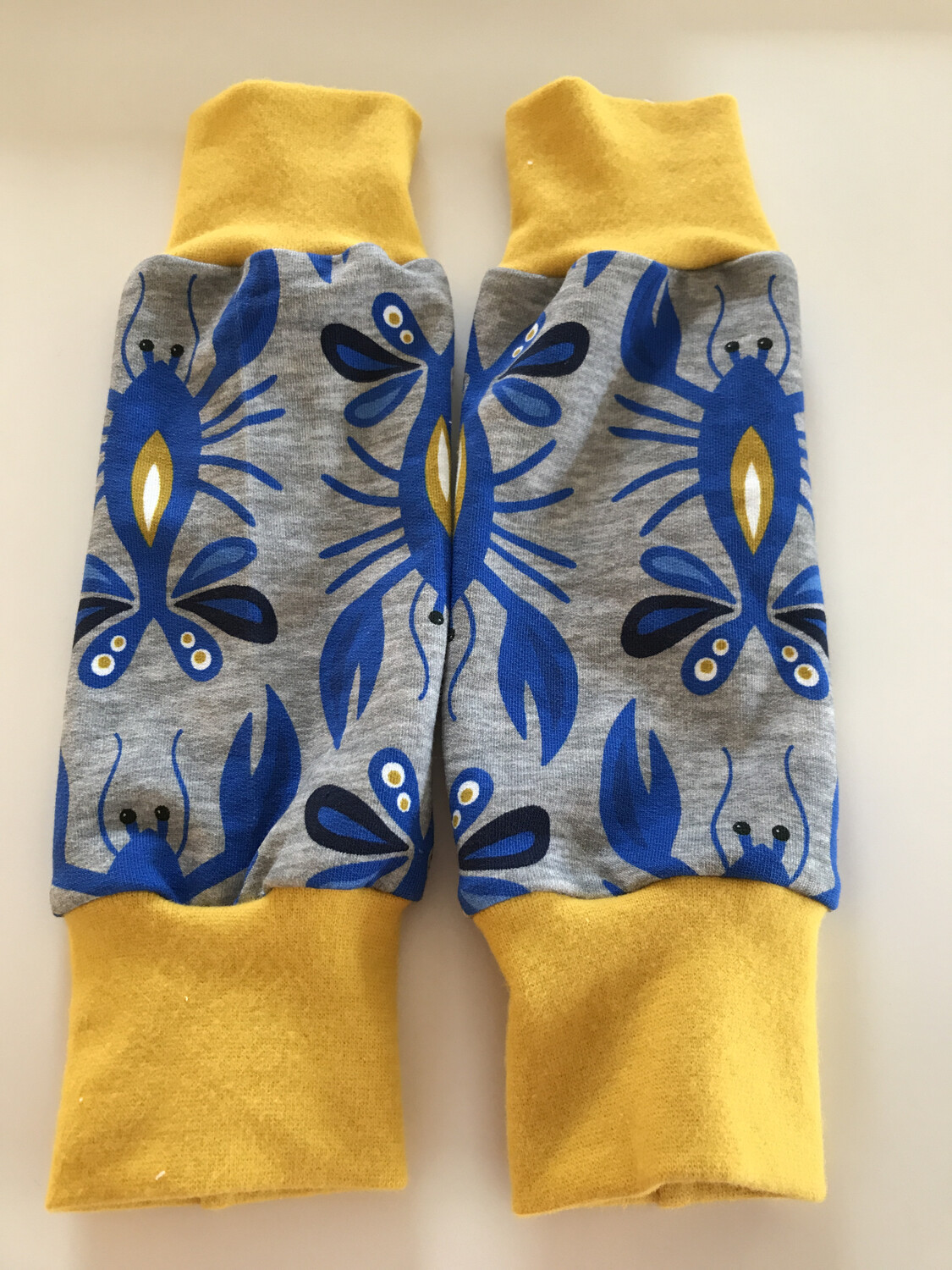 Blue Lobster Baby Leg Warmers - alternative cuffs available