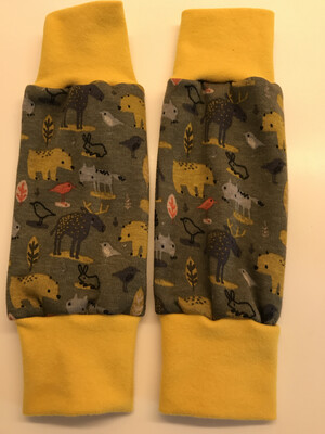 Khaki Bear & Moose Alpine Fleece Leg Warmers - alternative cuffs available