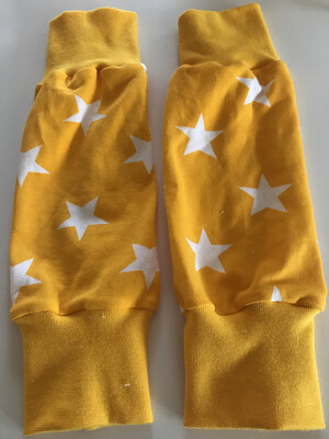 Yellow Star Baby Leg Warmers- alternative Cuff available