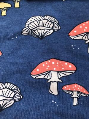 Blue Mushroom Leg Warmers - alternative cuffs available