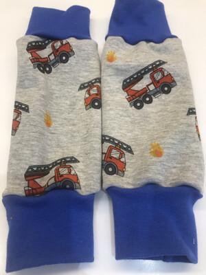Grey Fire Engine Alpine Fleece Leg Warmers - alternative cuffs available