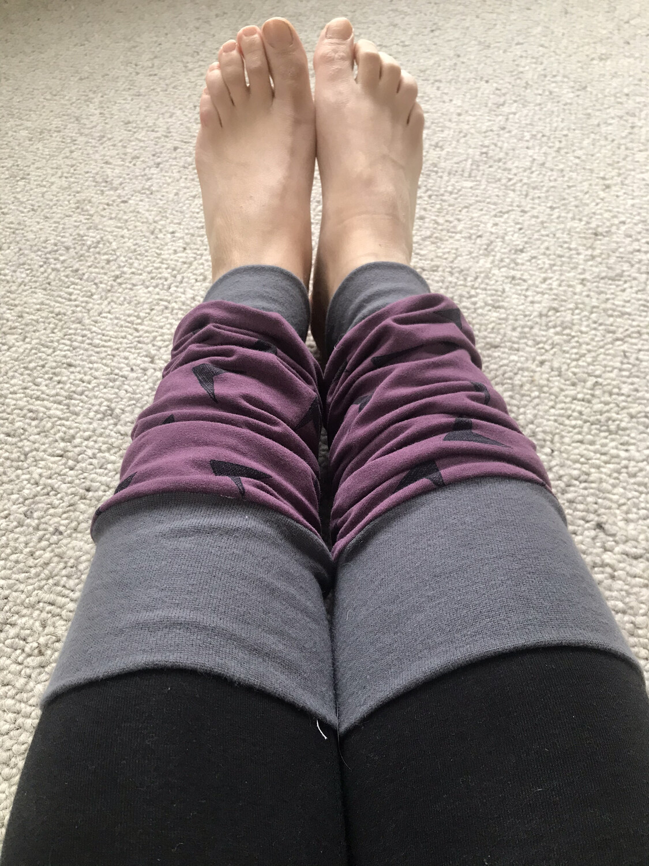 Ready to go purple arrow leg warmers - adult size