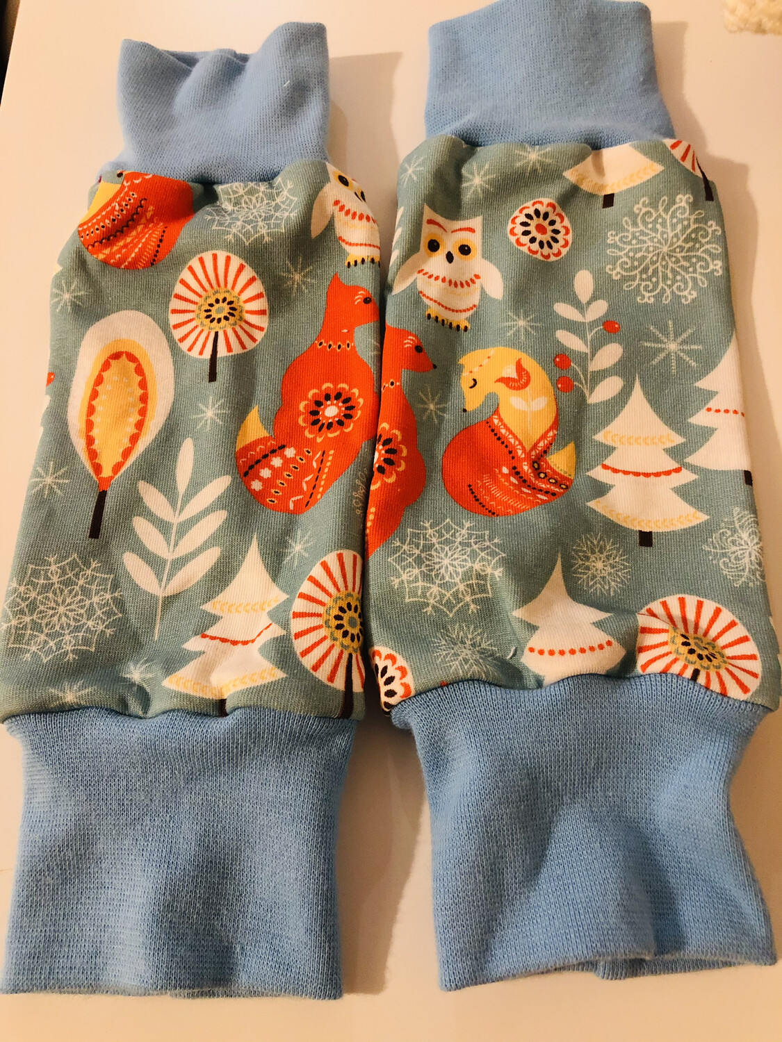 Ready to Go - Scandi Woodland Baby Leg Warmers