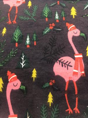 Christmas Flamingo Baby Leg Warmers - alternative cuffs available