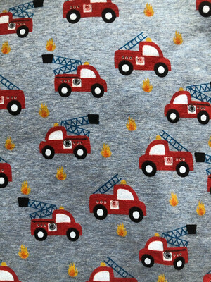 Fire Engine Alpine Fleece Leg Warmers - Blue Marl
