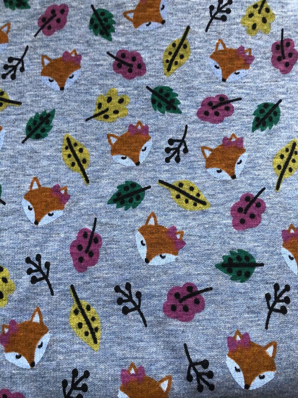 Fox & Leaves Alpine Fleece Leg Warmers - Blue