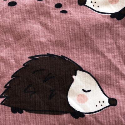 Pink hedgehog Leg Warmers - alternative cuffs available