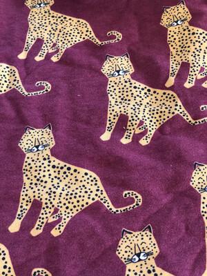 Burgundy Leopard Baby Leg Warmers - alternative cuffs available