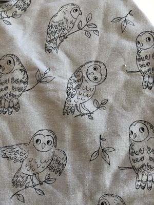 Dusty Green Owl Baby Leg Warmers - alternative cuffs available