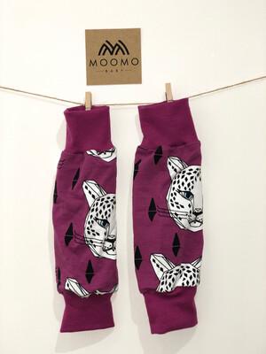 Ready To Go purple leopard Leg Warmers