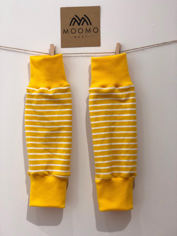 Yellow Stripe Baby Leg Warmers - alternative cuffs available