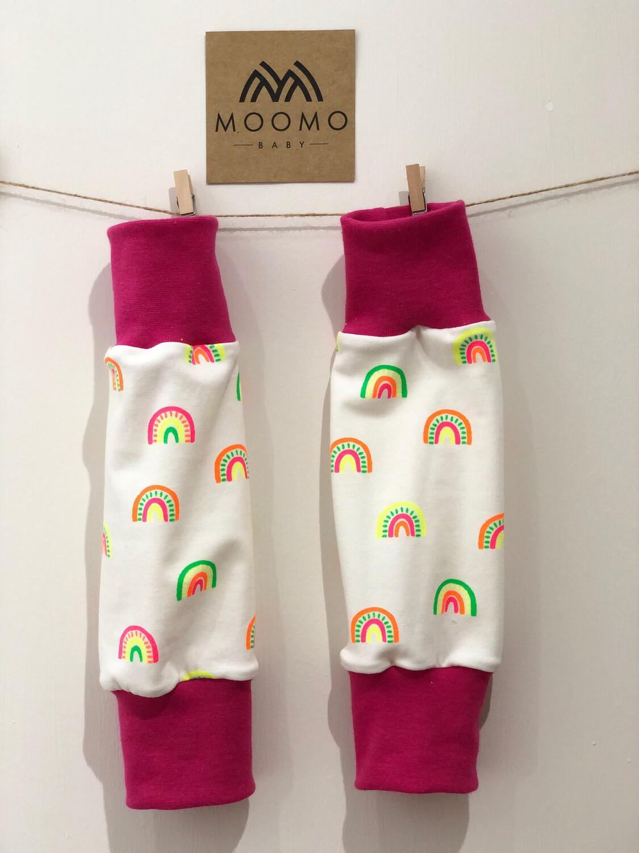 Neon Rainbow Baby Leg Warmers- alternative Cuff available