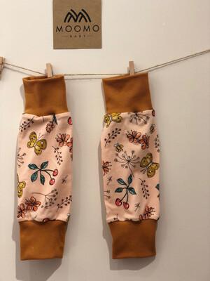 Ready to Go Pink Butterfly Leg Warmers - mustard cuffs