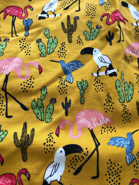 Mustard Birds Leg Warmers - alternative cuffs available