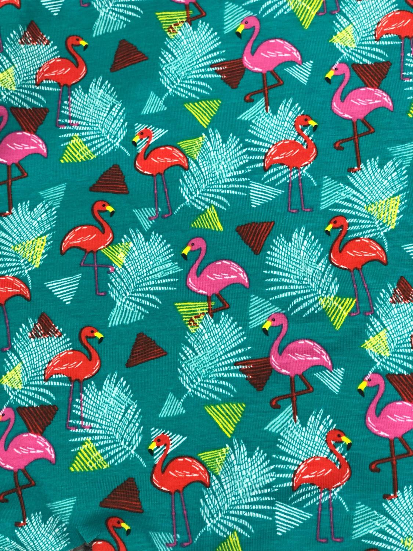Green Flamingo Leg Warmers - alternative cuffs available