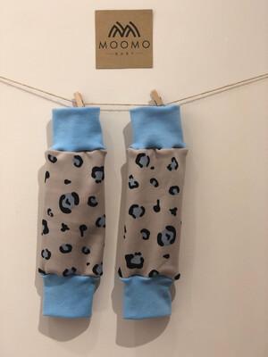 Grey Leopard Print 'Squish' Leg Warmers