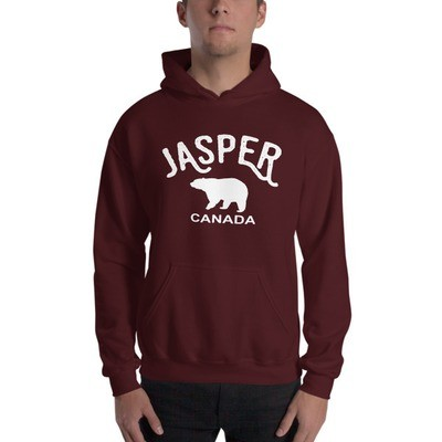 Jasper Bear Alberta Canada - Hooded Sweatshirt (Multi Colors) The Rockies Canadian Rocky Mountains