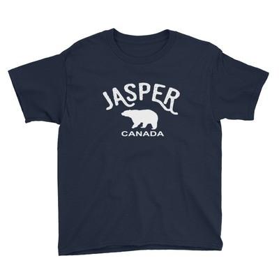 Jasper Bear Alberta Canada - Youth T-Shirt (Multi Colors) The Rockies Canadian Rocky Mountains