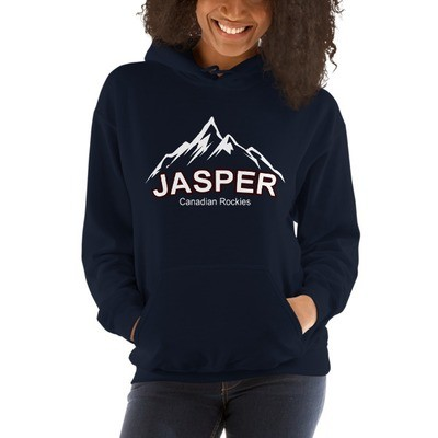 Jasper Mountain Alberta Canada - Hooded Sweatshirt (UNISEX) (Multi Colors) The Rockies Canadian Rocky Mountains