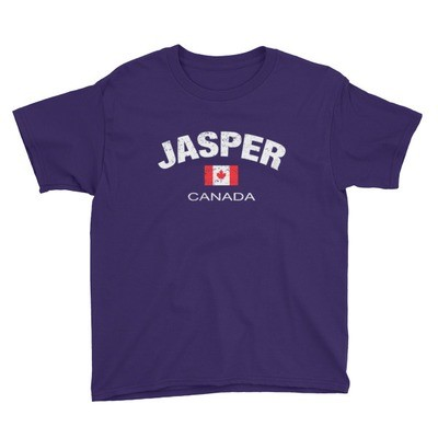 Jasper Alberta Canada - Youth T-Shirt (Multi Colors) The Rockies Canadian Rocky Mountains