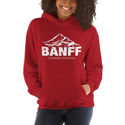 Banff Mountain Alberta Canada - Hooded Sweatshirt (UNISEX)(Multi Colors) The Rockies Canadian Rocky Mountains