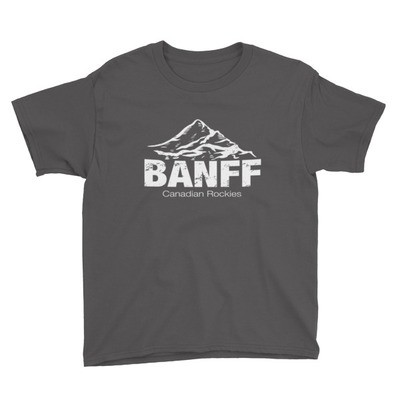 Banff Mountain Alberta Canada - Youth T-Shirt (Multi Colors) The Rockies Canadian Rocky Mountains
