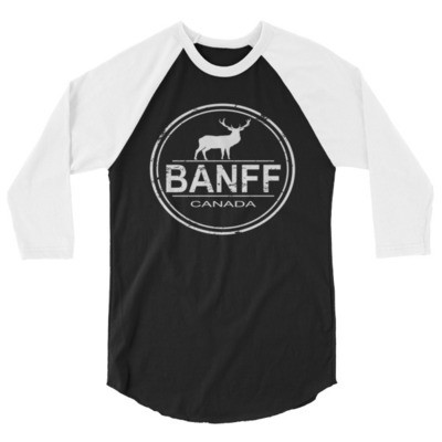 Banff Alberta Canada - 3/4 sleeve raglan shirt (Multi Colors) The Rockies Canadian Rocky Mountains