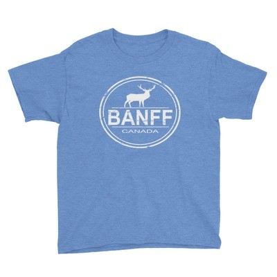 Banff Alberta Canada - Youth T-Shirt (Multi Colors) The Rockies Canadian Rocky Mountains