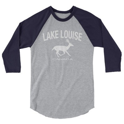 Lake Louise Alberta Canada - 3/4 sleeve raglan shirt (Multi Colors) The Rockies Canadian Rocky Mountains