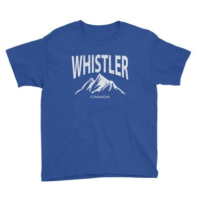 Whistler British Columbia Canada - Youth T-Shirt (Multi Colors) The Rockies Canadian Rocky Mountains