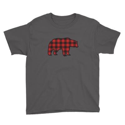 Plaid Bear - Youth T-Shirt (Multi Colors)