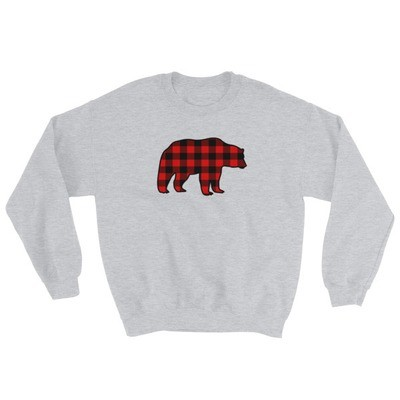 Plaid Bear - Sweatshirt (Multi Colors) The Rocky Mountains Canadian American Rockies