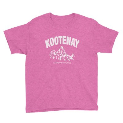 Kootenay British Columbia Canada - Youth T-Shirt (Multi Colors) The Rockies Canadian Rocky Mountains