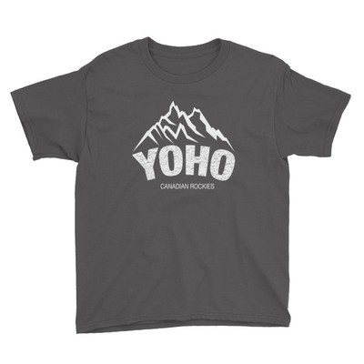 Yoho British Columbia Canada - Youth T-Shirt (Multi Colors) The Rockies Canadian Rocky Mountains