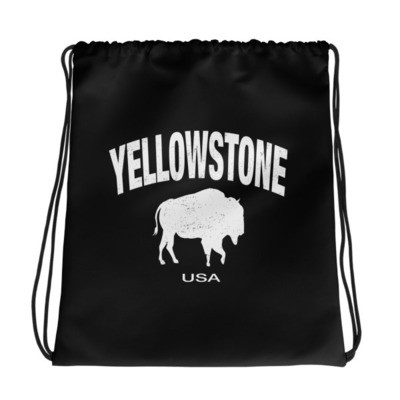 Yellowstone Wyoming Montana Idaho - Drawstring bag - The Rockies American Rockies The Rocky Mountains